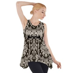 Wild Textures Damask Wall Cover Side Drop Tank Tunic