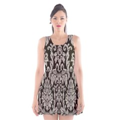 Wild Textures Damask Wall Cover Scoop Neck Skater Dress