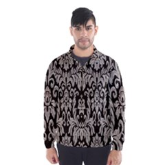 Wild Textures Damask Wall Cover Wind Breaker (Men)