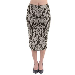 Wild Textures Damask Wall Cover Midi Pencil Skirt