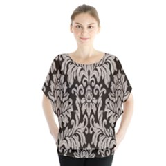 Wild Textures Damask Wall Cover Blouse