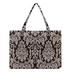 Wild Textures Damask Wall Cover Medium Tote Bag