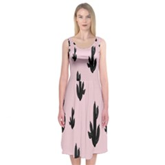 Tree Kartus Pink Midi Sleeveless Dress