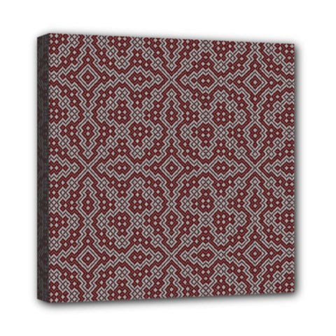 Simple Indian Design Wallpaper Batik Mini Canvas 8  x 8