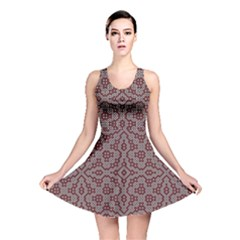 Simple Indian Design Wallpaper Batik Reversible Skater Dress