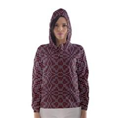 Simple Indian Design Wallpaper Batik Hooded Wind Breaker (Women)