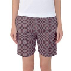 Simple Indian Design Wallpaper Batik Women s Basketball Shorts