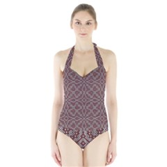 Simple Indian Design Wallpaper Batik Halter Swimsuit