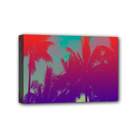 Tropical Coconut Tree Mini Canvas 6  x 4