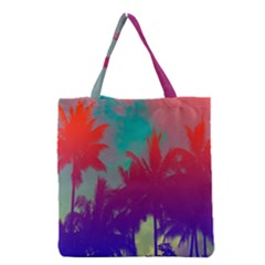 Tropical Coconut Tree Grocery Tote Bag