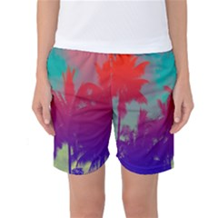 Tropical Coconut Tree Women s Basketball Shorts