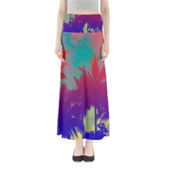 Tropical Coconut Tree Maxi Skirts