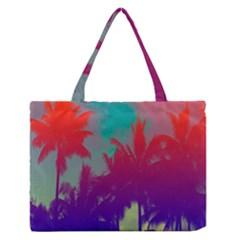 Tropical Coconut Tree Medium Zipper Tote Bag