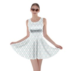 Web Grey Flower Pattern Skater Dress