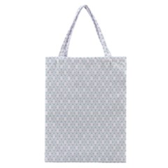 Web Grey Flower Pattern Classic Tote Bag
