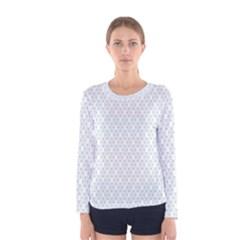 Web Grey Flower Pattern Women s Long Sleeve Tee