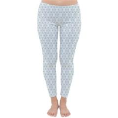 Web Grey Flower Pattern Classic Winter Leggings