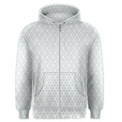 Web Grey Flower Pattern Men s Zipper Hoodie