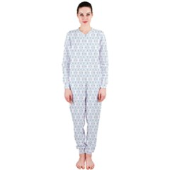 Web Grey Flower Pattern OnePiece Jumpsuit (Ladies)