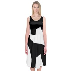 Giant Schnauzer Silo Midi Sleeveless Dress
