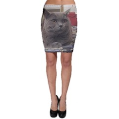British Shorthair Grey Bodycon Skirt