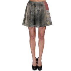 British Shorthair Grey Skater Skirt