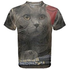 British Shorthair Grey Men s Cotton Tee