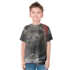 British Shorthair Grey Kids  Cotton Tee