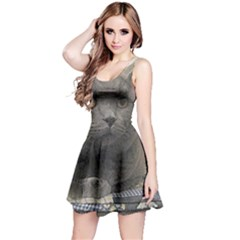 British Shorthair Grey Reversible Sleeveless Dress