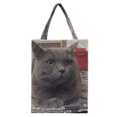 British Shorthair Grey Classic Tote Bag