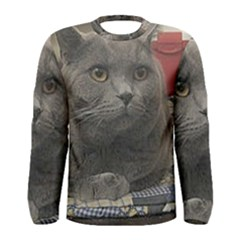 British Shorthair Grey Men s Long Sleeve Tee