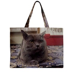 British Shorthair Grey Zipper Mini Tote Bag
