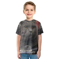 British Shorthair Grey Kids  Sport Mesh Tee