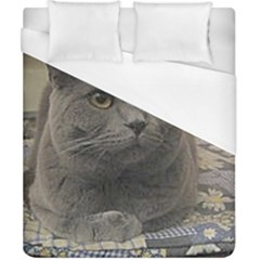 British Shorthair Grey Duvet Cover (California King Size)