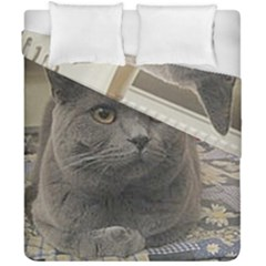 British Shorthair Grey Duvet Cover Double Side (California King Size)