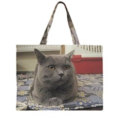British Shorthair Grey Large Tote Bag