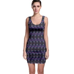 Psychedelic 70 S 1970 S Abstract Sleeveless Bodycon Dress