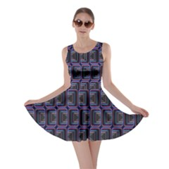 Psychedelic 70 S 1970 S Abstract Skater Dress