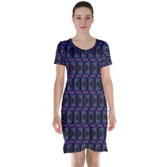 Psychedelic 70 S 1970 S Abstract Short Sleeve Nightdress