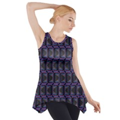 Psychedelic 70 S 1970 S Abstract Side Drop Tank Tunic