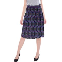Psychedelic 70 S 1970 S Abstract Midi Beach Skirt