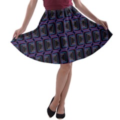 Psychedelic 70 S 1970 S Abstract A Line Skater Skirt