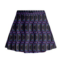 Psychedelic 70 S 1970 S Abstract Mini Flare Skirt
