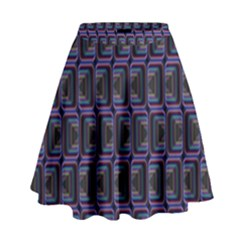 Psychedelic 70 S 1970 S Abstract High Waist Skirt