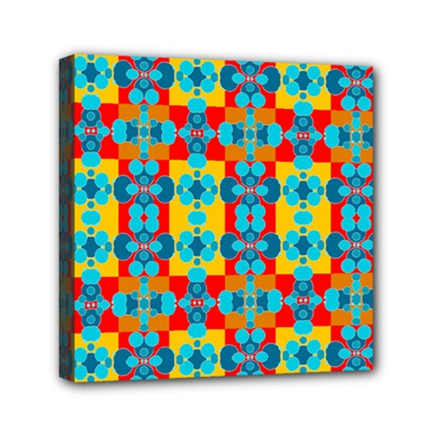 Pop Art Abstract Design Pattern Mini Canvas 6  x 6