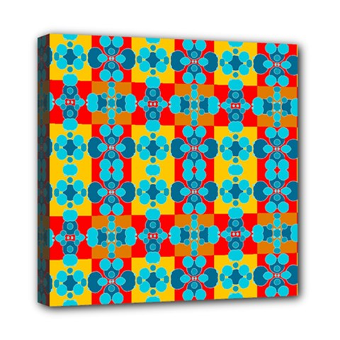 Pop Art Abstract Design Pattern Mini Canvas 8  X 8
