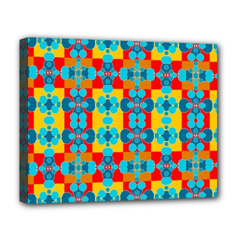 Pop Art Abstract Design Pattern Deluxe Canvas 20  x 16