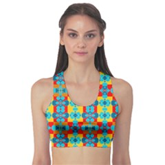 Pop Art Abstract Design Pattern Sports Bra