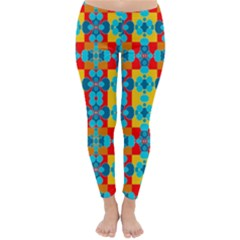 Pop Art Abstract Design Pattern Classic Winter Leggings
