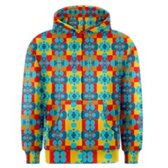 Pop Art Abstract Design Pattern Men s Zipper Hoodie